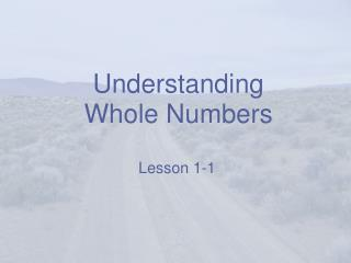 Understanding Whole Numbers