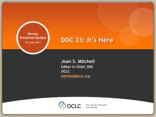 DDC 23: It's Here