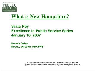 All of our reports are available on the web: nhpolicy