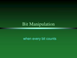 Bit Manipulation