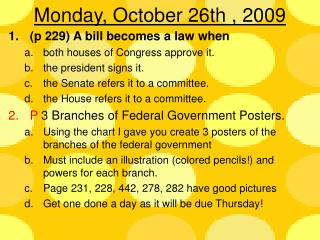 Monday, October 26th , 2009