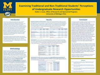 Examining Traditional and Non-Traditional Students' Perceptions