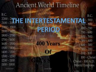 400 Years  Of  God�s Silence