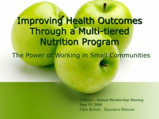 Improving Health Outcomes Through a Multi-tiered Nutrition Program