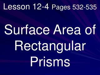 Lesson 12-4 Pages 532-535