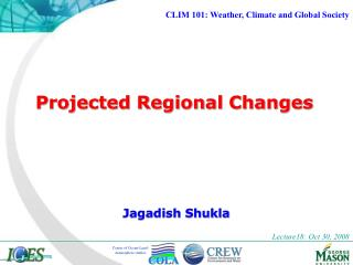 Projected Regional Changes