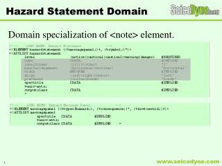Hazard Statement Domain