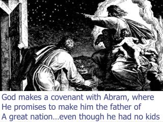 God makes a covenant with Abram, where He promises to make him the father of