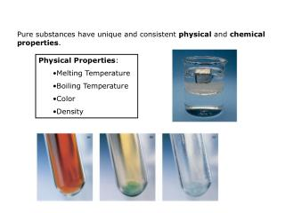 Physical Properties : Melting Temperature Boiling Temperature Color Density