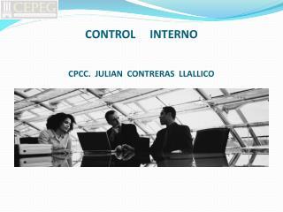 CONTROL     INTERNO CPCC.  JULIAN  CONTRERAS  LLALLICO