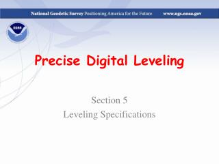 Precise Digital Leveling