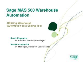 Sage MAS 500 Warehouse Automation