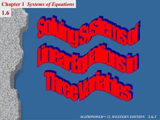 MATHPOWER TM  11, WESTERN EDITION