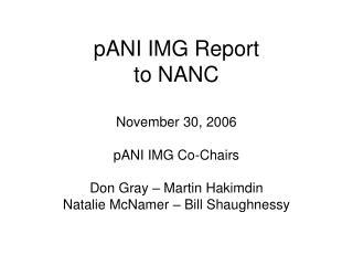 pANI IMG Report  to NANC
