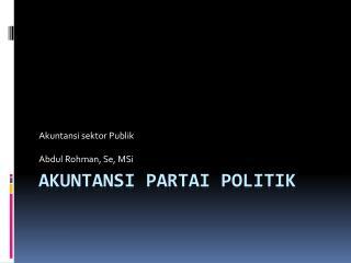 Akuntansi partai politik