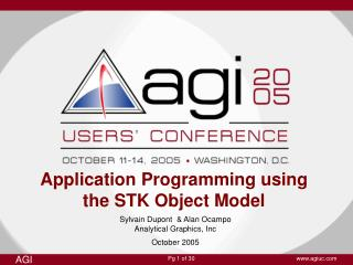 Application Programming using the STK Object Model