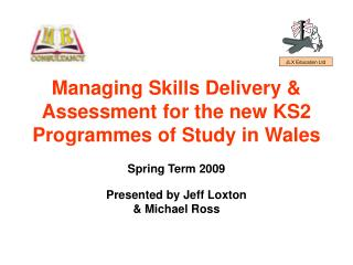 Managing Skills Delivery  Assessment for the new KS2 Programmes of Study in Wales