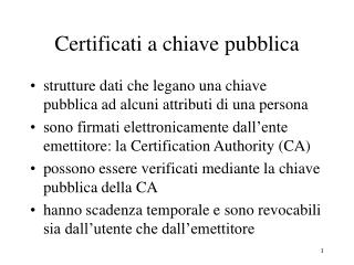Certificati a chiave pubblica