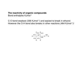 Bond Energies/KJ mol -1