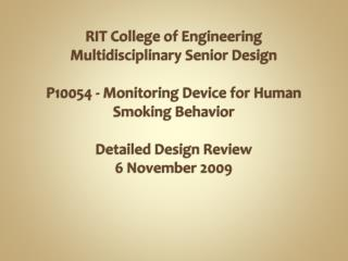 RIT Engineering Multidisciplinary Senior Design