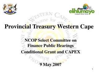 Provincial Treasury Western Cape