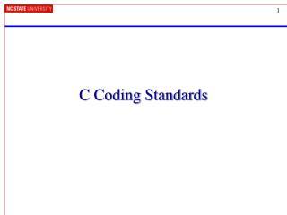 C Coding Standards