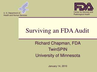 Surviving an FDA Audit