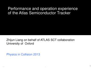 Performance and operation experience of the Atlas Semiconductor Tracker