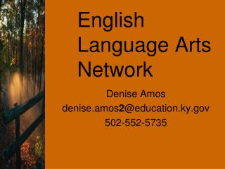 English Language Arts Network
