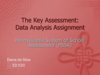 The Key Assessment:  Data Analysis Assignment
