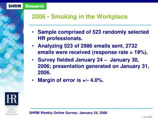 2006 - Smoking in the Workplace