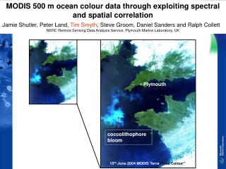 MODIS 500 m ocean colour data through exploiting spectral and spatial correlation