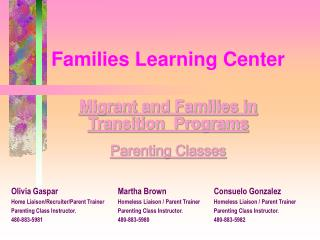 Families Learning Center
