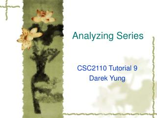 Analyzing Series