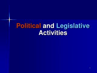Political  and  Legislative  Activities