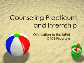 Counseling Practicum and Internship