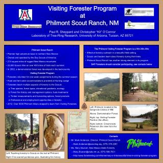 Visiting Forester Program at Philmont Scout Ranch, NM