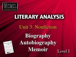 Unit 3: Nonfiction