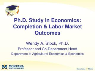 Ph.D. Study in Economics: Completion & Labor Market Outcomes
