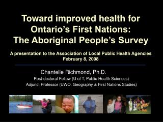 Chantelle Richmond, Ph.D. Post-doctoral Fellow (U of T, Public Health Sciences)