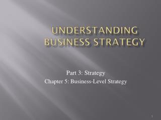 Understanding Business Strategy