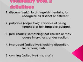 Vocabulary week 2 definitions