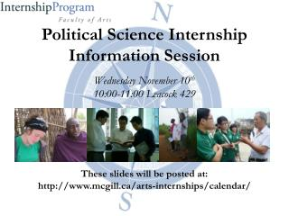 Political Science Internship Information Session