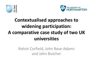 Contextualised approaches to widening participation: A comparative case study of two UK universities
