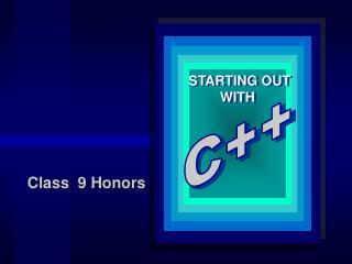 Class  9 Honors