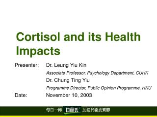Cortisol and its Health Impacts