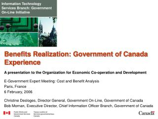 Information Technology Services Branch: Government On-Line Initiative