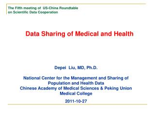 Data Sharing of Medical and Health