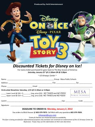 Discounted Tickets for  Disney on Ice!