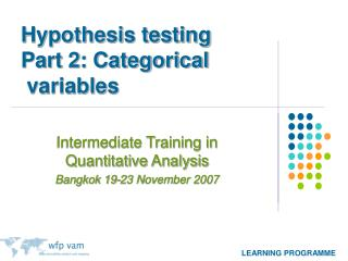 Hypothesis testing Part 2: Categorical  variables